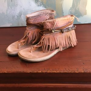 Free People Wander Land Sandals size 37 or 7 Rose